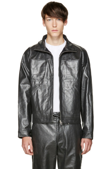Telfar - Black Coated Denim Jacket