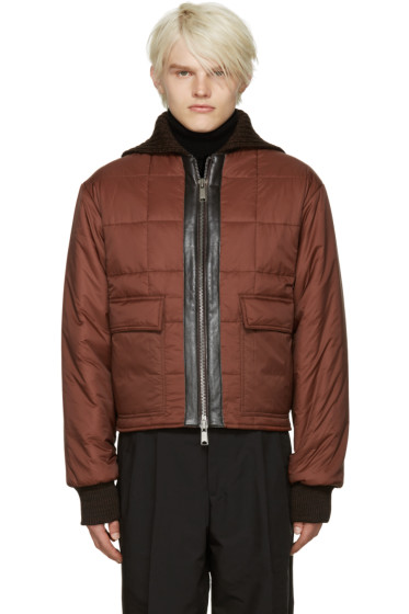 CMMN SWDN - Brown Quilted Nash Jacket