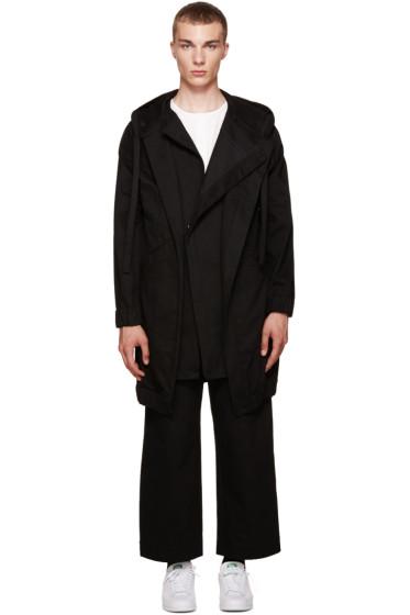 Phoebe English - Black Oversized Canvas Coat