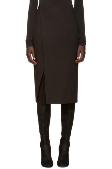 Protagonist - Black Wool Wrap Skirt