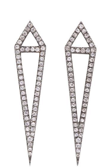 Eva Fehren - Blackened Gold Diamond Dagger Earrings