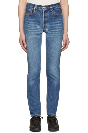 Re/Done - Blue High-Rise Jeans