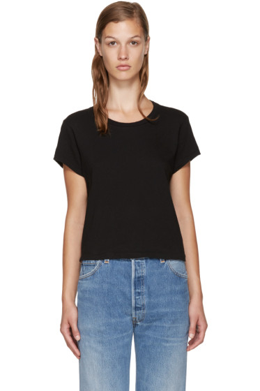 Re/Done - Black Hanes Edition 1950's Perfect Boxy T-Shirt