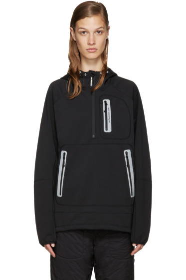 and Wander - Black Hooded Windstopper Jacket