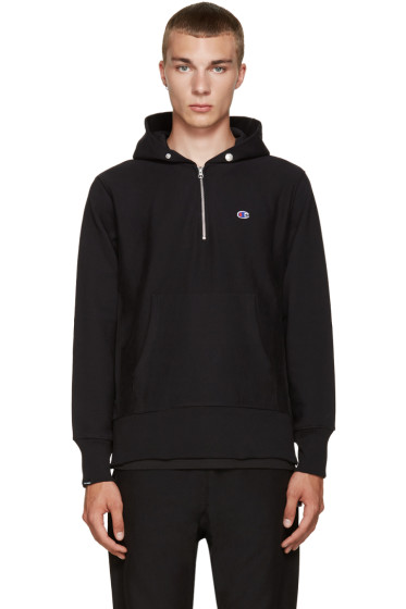 Champion x Beams - Black Reverse Weave Hoodie