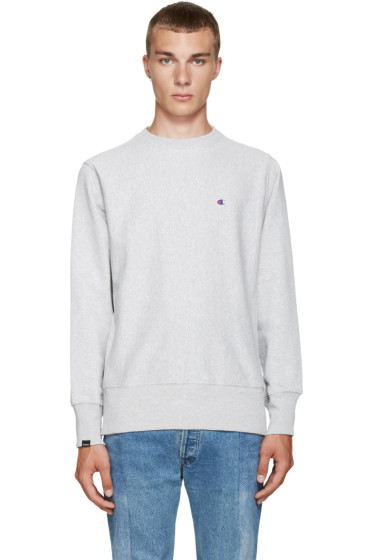 Champion x Beams - Grey Reverse Weave Sweatshirt