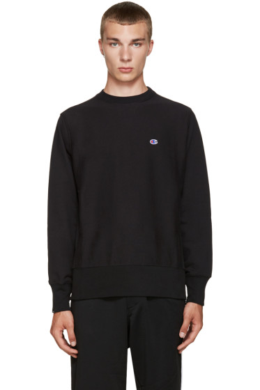 Champion x Beams - Black Reverse Weave Sweatshirt