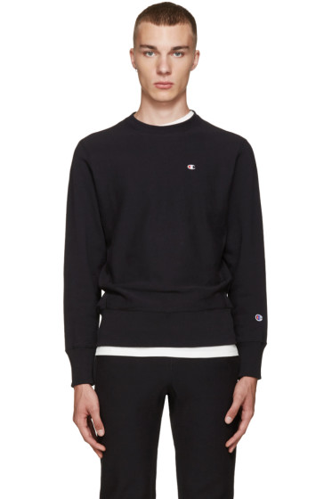 Champion Reverse Weave - Black Reverse Weave Terry Pullover