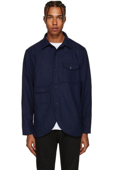 Han Kjobenhavn - Navy Wool Shirt