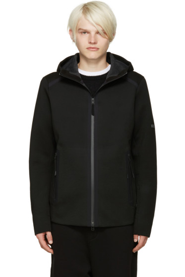 ISAORA - Black Neoprene Zip-Up Hoodie