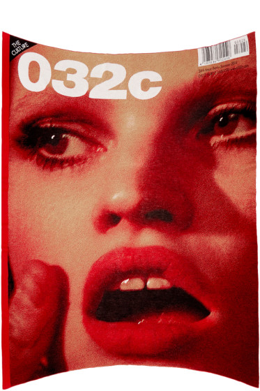032c - Red Under The Covers Lara Stone Blanket