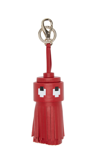 Anya Hindmarch - Red Ghost Tassel Keychain