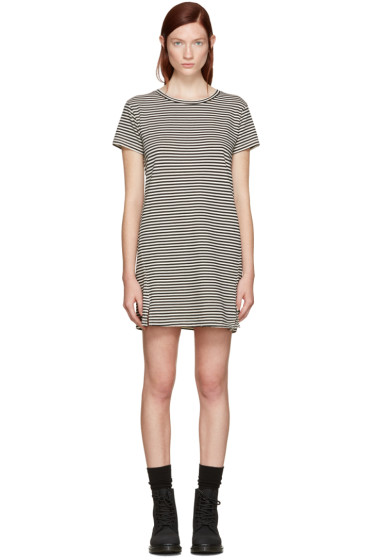 Amo - Black Striped Short Dress