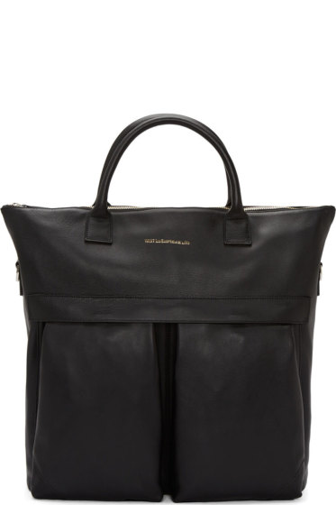 Want Les Essentiels - Black Leather OHare Shopper Tote