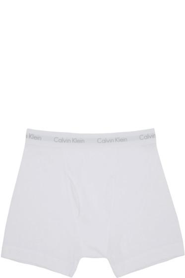 Calvin Klein Underwear - White Boxer Briefs Three-Pack