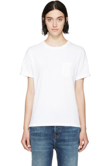 Frame Denim - White Le Boyfriend T-Shirt