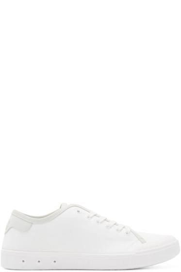 Rag & Bone - White Standard Issue Low-Top Sneakers