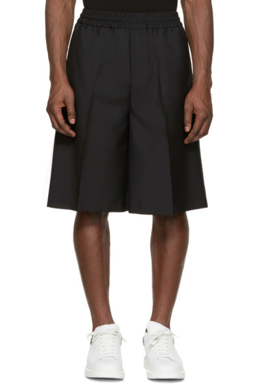 Acne Studios - Black Wool Ryder Shorts