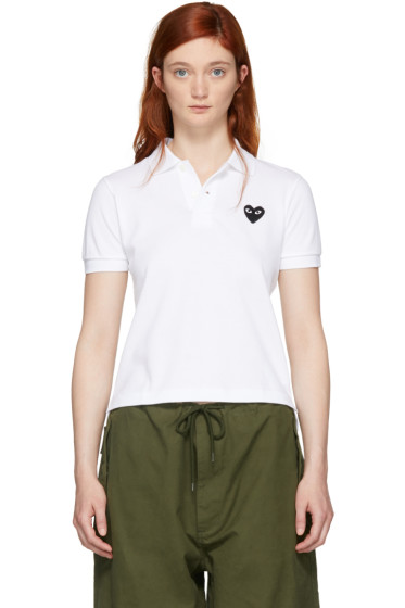 Comme des Garçons Play - White Heart Patch Polo