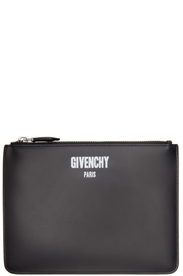Givenchy - Black Zippered Logo Pouch