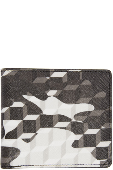 Pierre Hardy - Black & White Camouflage Cube Wallet