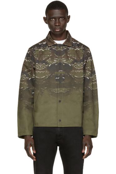 Marcelo Burlon County of Milan - Green Printed Banes Jacket
