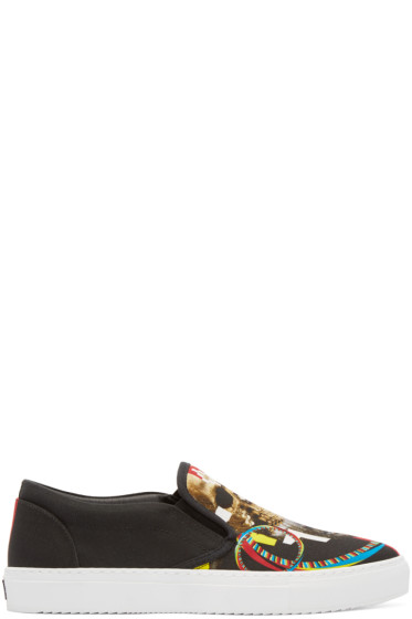 Marcelo Burlon County of Milan - Black Canvas Batavia Slip-On Sneakers