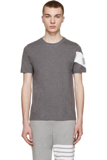 Moncler Gamme Bleu - Grey Chevron T-Shirt