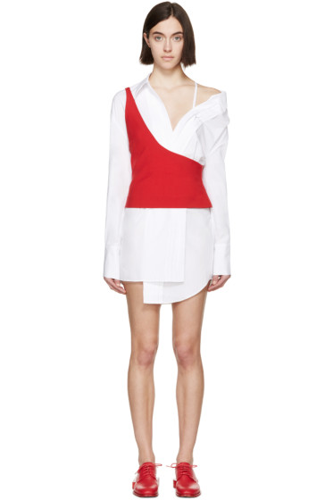 Jacquemus - White & Red Layered Shirt Dress