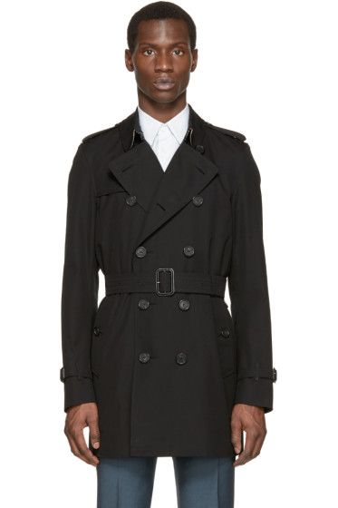 Burberry London - Black Mid-Length Kensington Trench