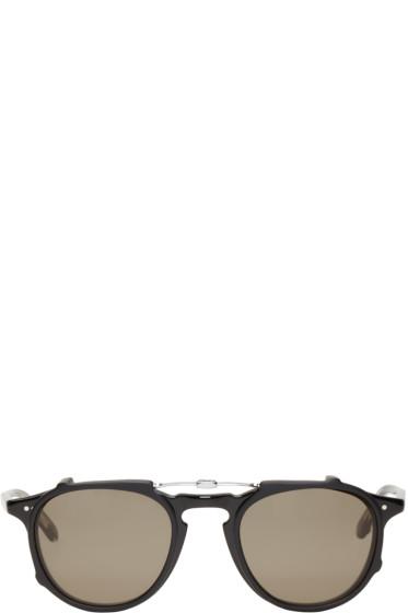 Garrett Leight - Black Clip-On Hampton Optical Glasses