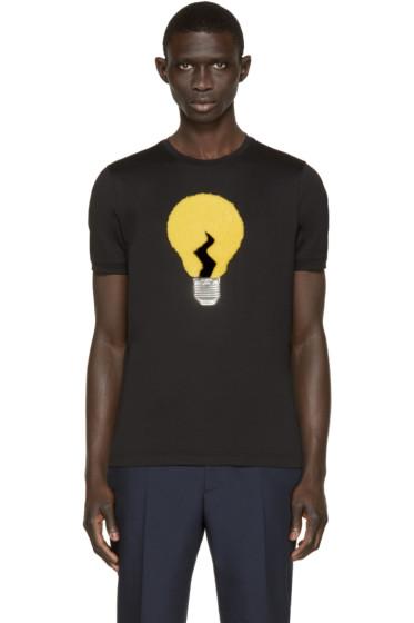 Fendi - Black Light Bulb Appliqué T-Shirt