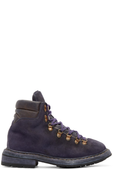 Guidi - Purple Suede Hiking Boots