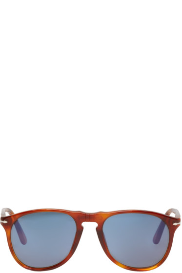 Persol - Orange Round Tella Sunglasses