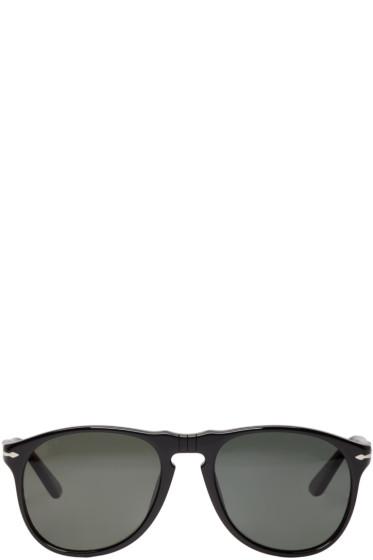 Persol - Black Round Pilot Sunglasses
