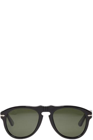 Persol - Black Acetate Round Sunglasses