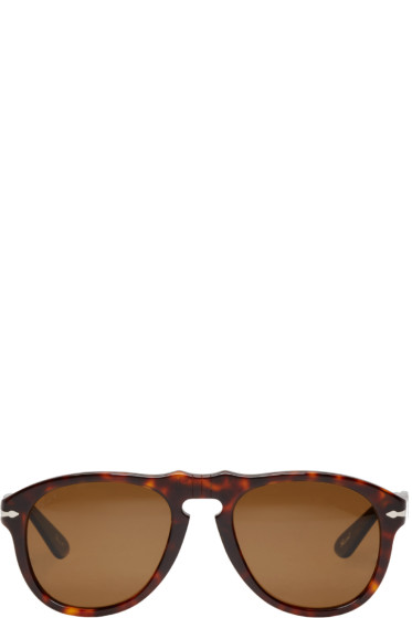 Persol - Tortoiseshell Round Pilot Sunglasses