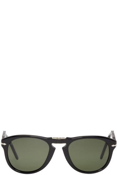 Persol - Black Folding Pilot Sunglasses