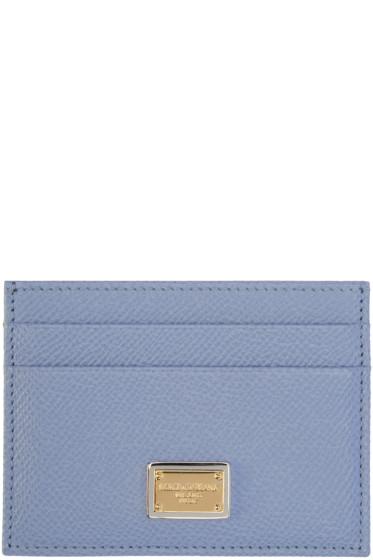 Dolce & Gabbana - Blue Leather Card Holder