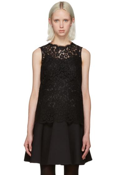 Dolce & Gabbana - Black Lace Tank Top