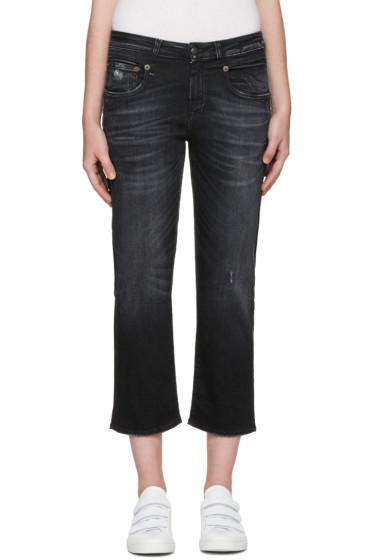 R13 - Black Straight Boy Jeans