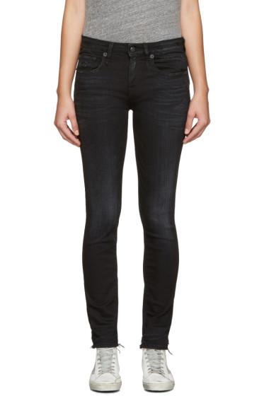 R13 - Black Alison Crop Jeans