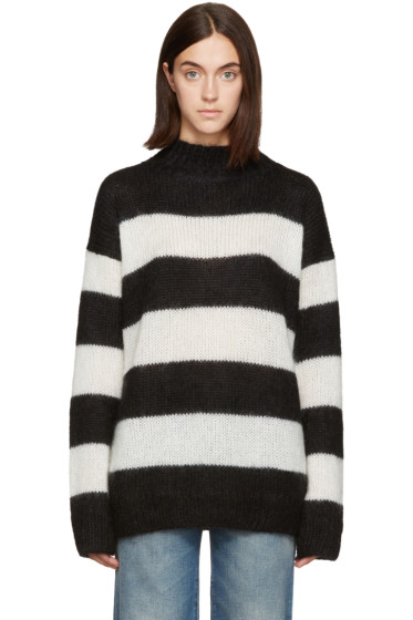 R13 - Black & Cream Nancy Turtleneck