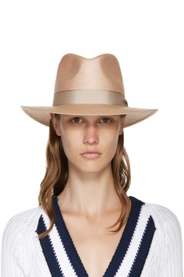 Rag & Bone - Taupe Straw Panama Hat