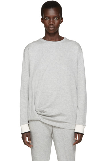 Rag & Bone - Grey Draped Sweatshirt