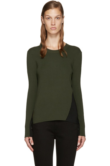 Rag & Bone - Green & Black Merino Pullover