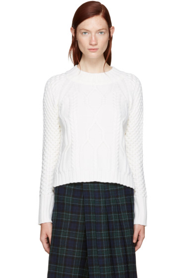 Rag & Bone - Ivory Cropped Cameron Sweater
