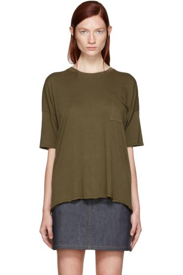 Rag & Bone - Green The Big T-Shirt