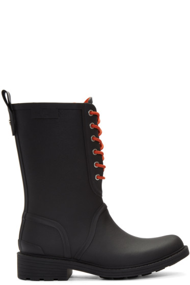 Rag & Bone - Black Ansel Rain Boots