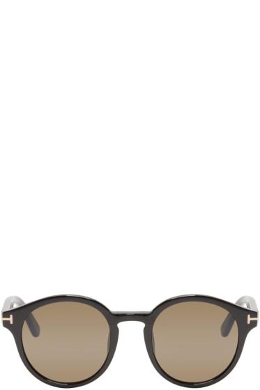 Tom Ford - Black Round Lucho Sunglasses